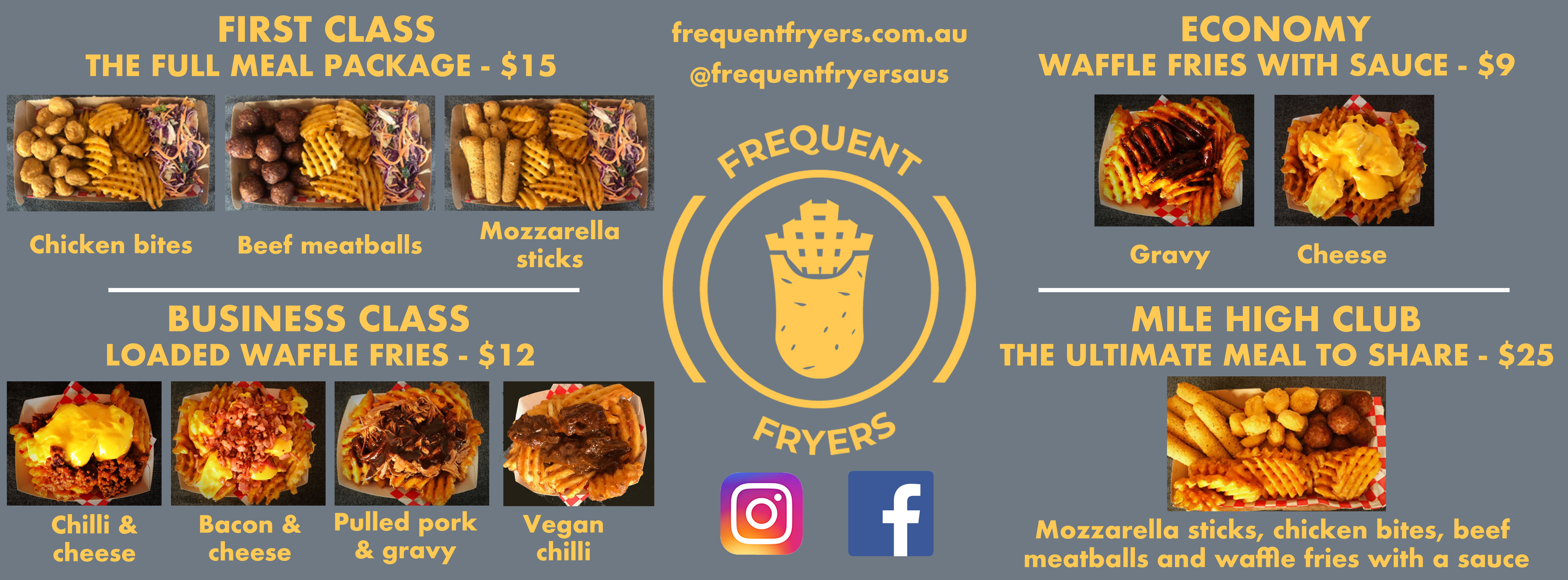 Frequent Fryers Menu